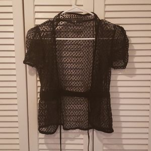 Forever 21 sheer top with draw string tie